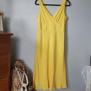 J. Crew silk yellow dress